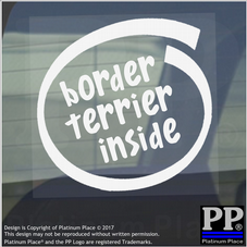 1 x Border Terrier Inside-Window,Car,Van,Sticker,Sign,Adhesive,Dog,Pet,On,Board